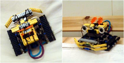 Biff! the RoverBot was made with Lego Mindstorms