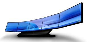 "5 widescreen UltraSpeedâ""¢ LCD Panels featuring resolutions of up to a mammoth 19200 x 2400 Pixels"