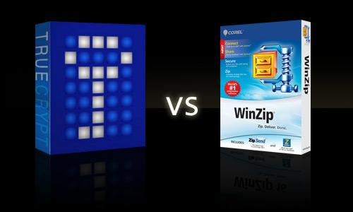 WinZip vs TrueCrypt vs 7-zip