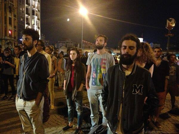 standing man protests Istanbul